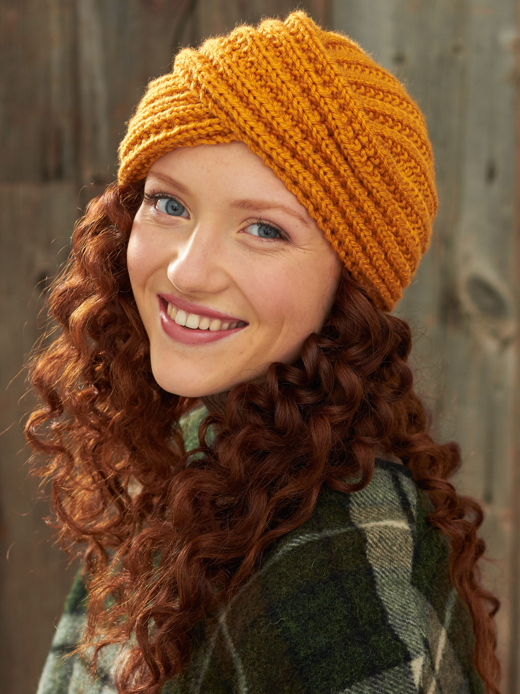 Crochet Pattern Turban Hat : Bernat Turban Twist Hat, Knit Pattern Yarnspirations