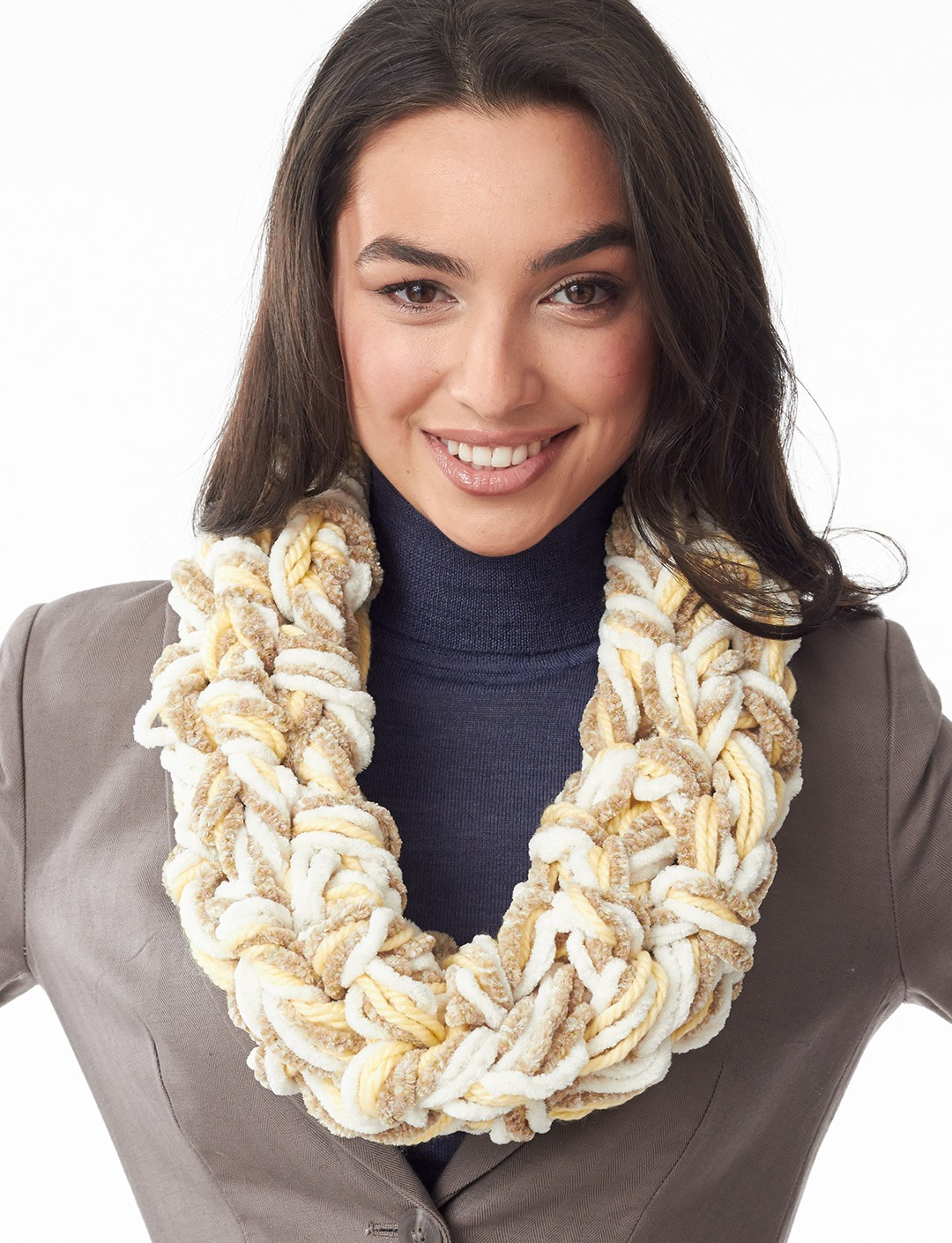 Arm Knit Cowl Free Pattern: Best arm knitting images on pinterest ...