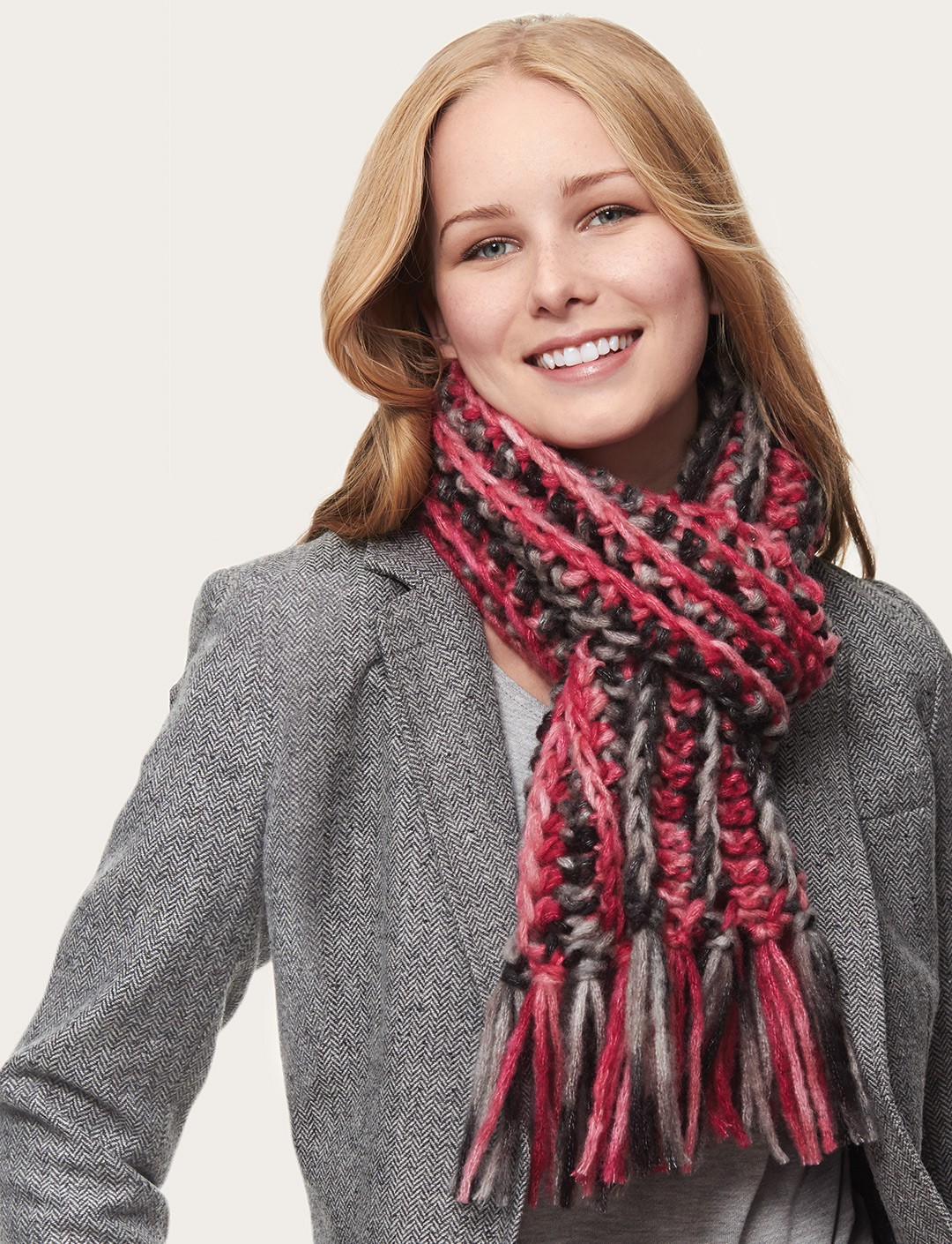 Stripes On the Side Scarf