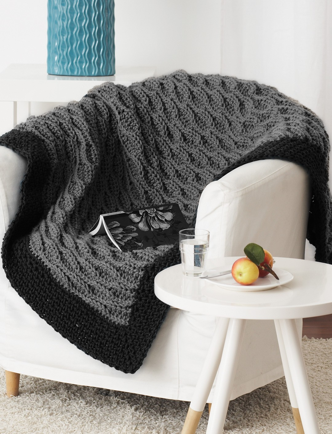 ... get cozy with this quick and easy crochet blanket approx 45 x