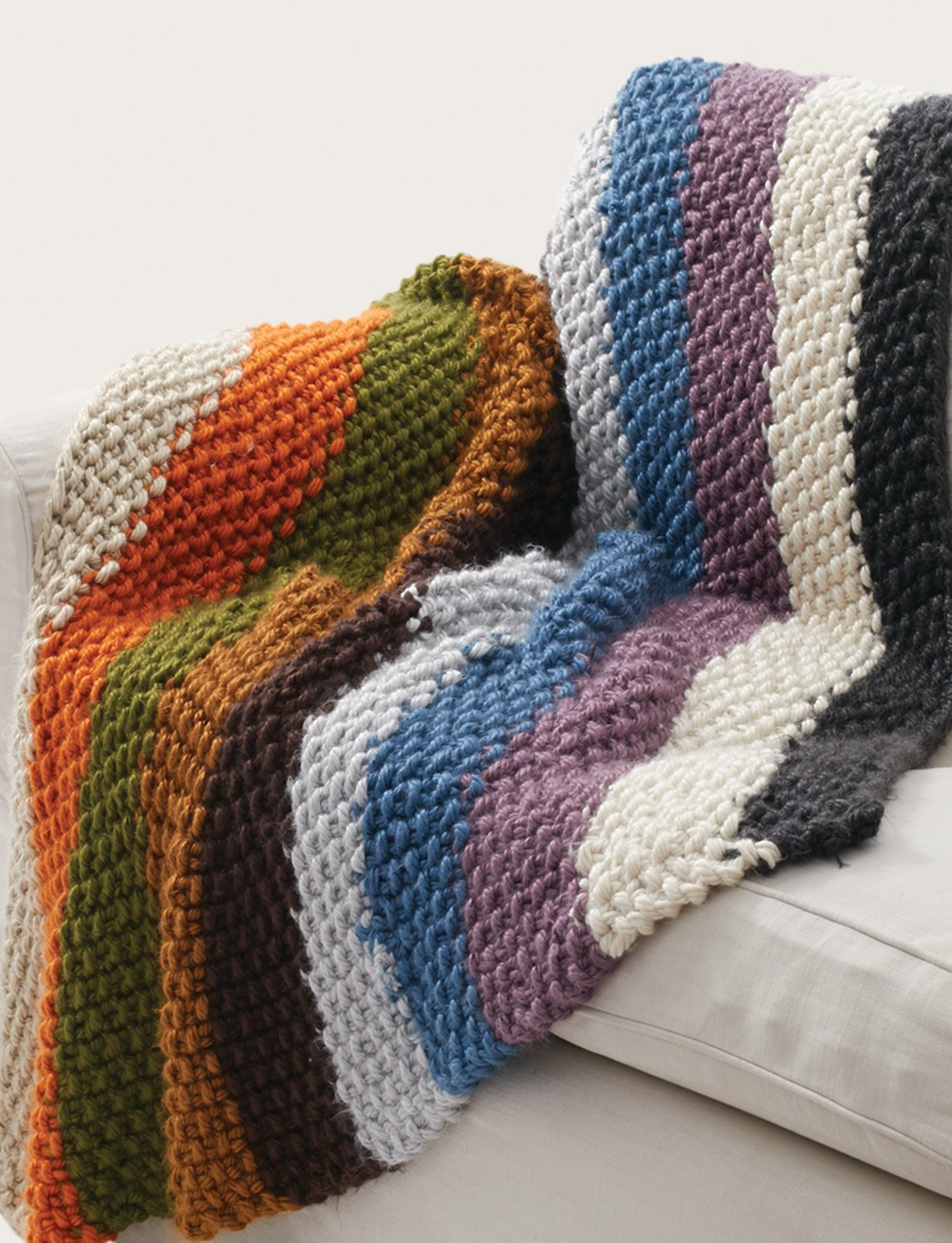 Knitting Pattern Yrn : Bernat Seed Stitch Blanket, Knit Pattern Yarnspirations