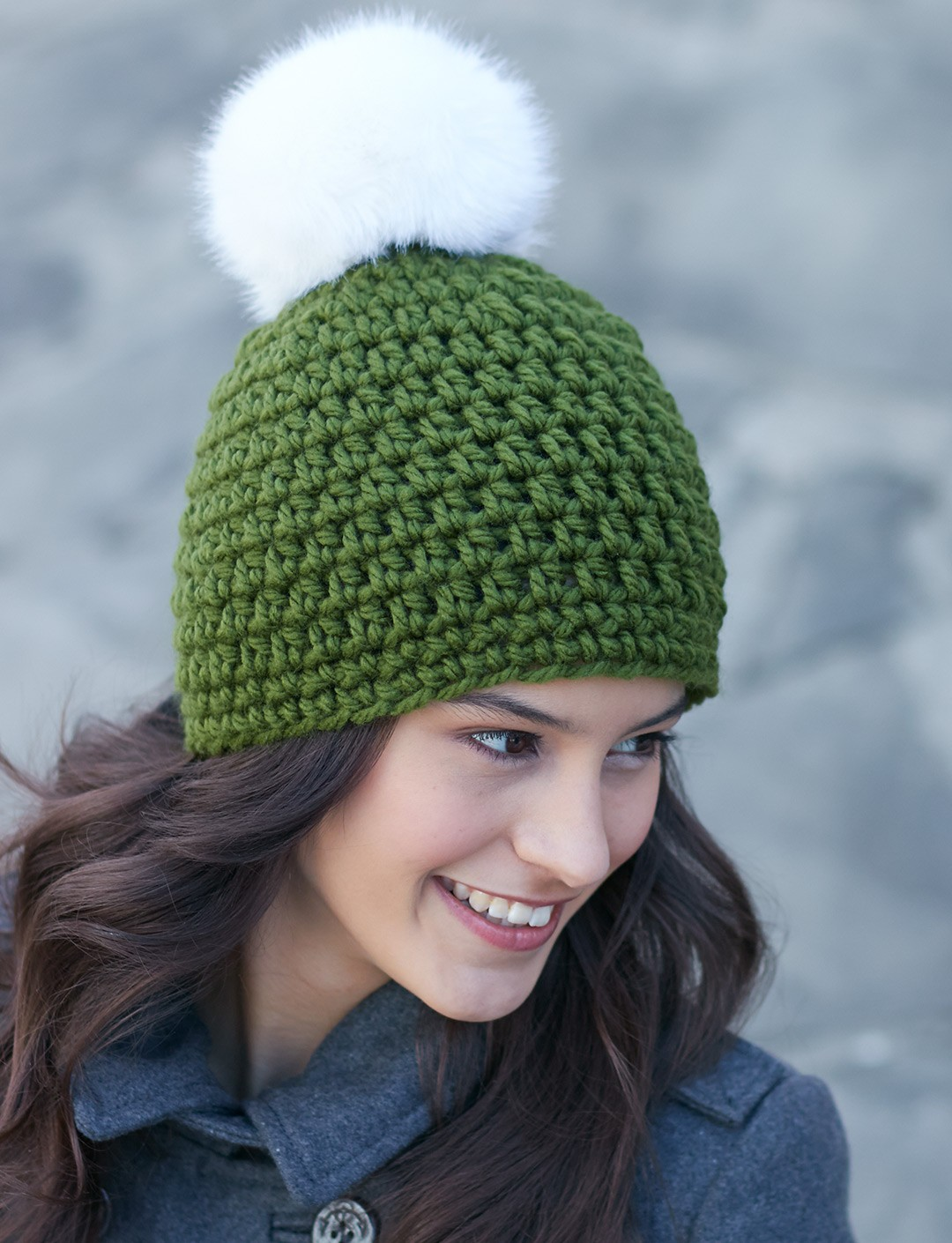 Quick Pompom Hat - Patterns Yarnspirations