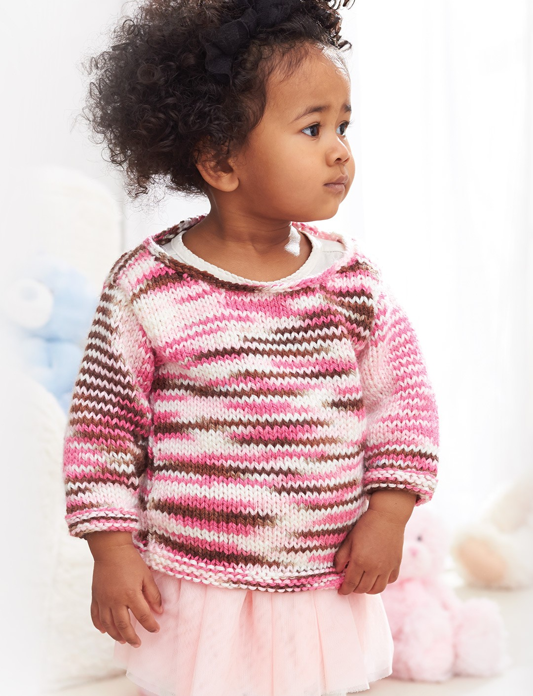 caron sweet and simple pullover knit pattern yarnspirations. Black Bedroom Furniture Sets. Home Design Ideas