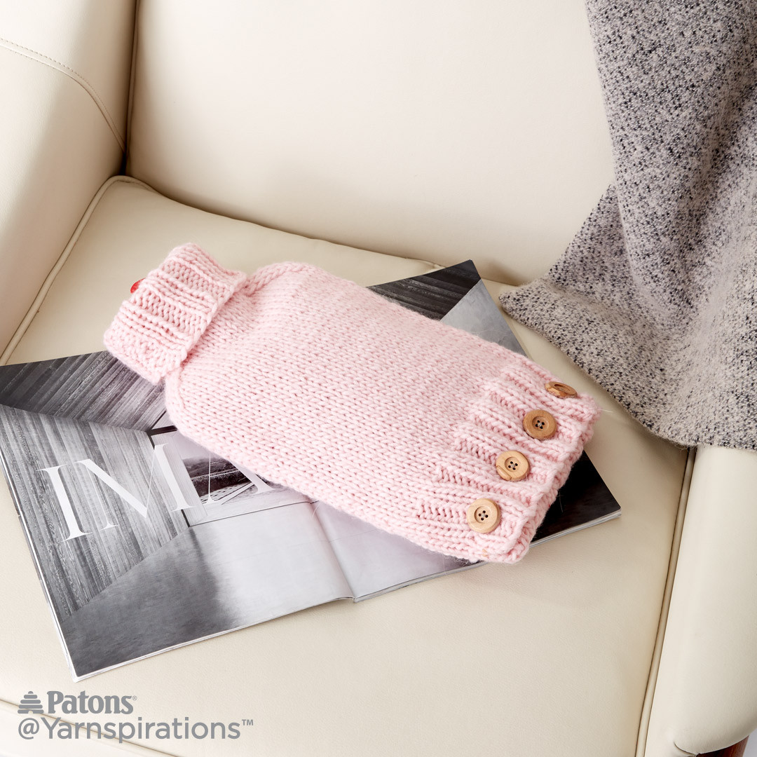 Knit hot water bottle cover patterns yarnspirations knit hot water bottle cover bankloansurffo Choice Image