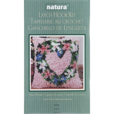 "Wonderart Latch Hook Kit 12""X12"" Heart Wreath"