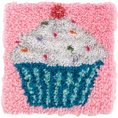 "Wonderart Latch Hook Kit 12""X12"" Cupcake"