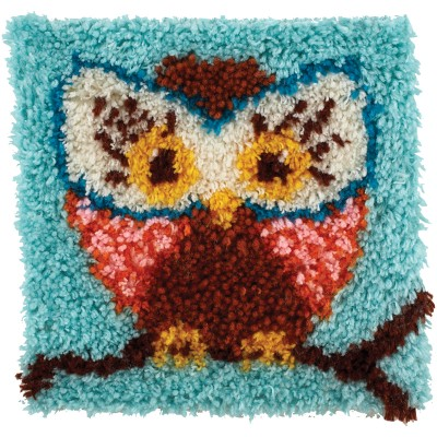 "Wonderart Latch Hook Kit 12""X12"" Hoot Hoot"