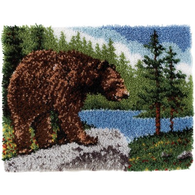 "Classics Latch Hook Kit 20""X30"" Grizzly Bear"