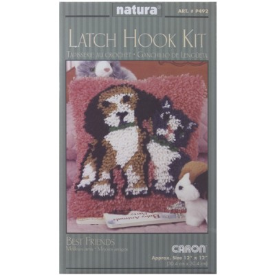 "Wonderart Latch Hook Kit 12""X12"" Best Friends"