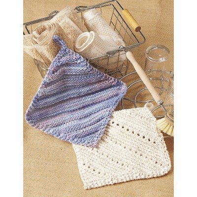 Simple Ridge & Eyelet Dishcloth