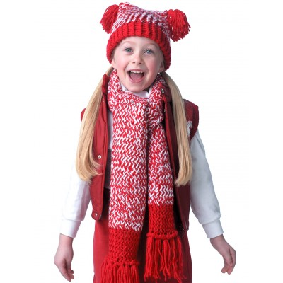 Child's Flat Top Hat & Scarf