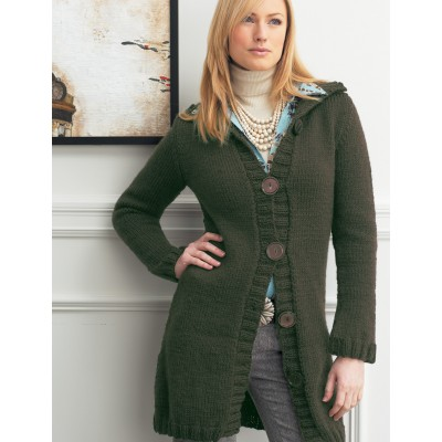 Long Cardigan with Flared Sleeves