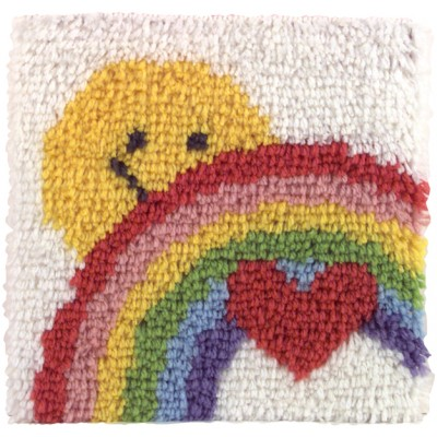 "Wonderart Latch Hook Kit 12""X12"" Sunshine Rainbow"