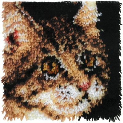 "Wonderart Latch Hook Kit 12""X12"" Tabby"