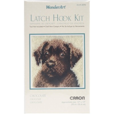 "Wonderart Latch Hook Kit 12""X12"" Chocolate Dog"