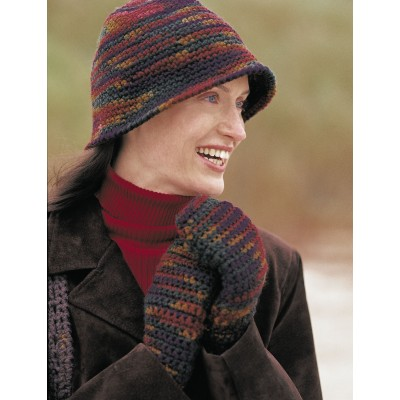 Cloche Hat and Mittens