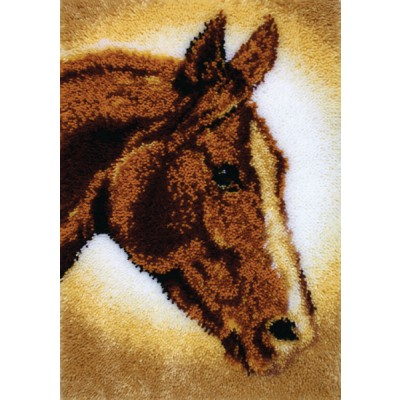 "Classics Latch Hook Kit 20""X30"" Horse"