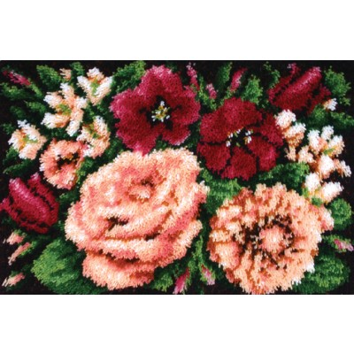 "Classics Latch Hook Kit 20""X30"" Floral D'Vine"