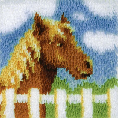 "Wonderart Latch Hook Kit 12""X12"" Pony"