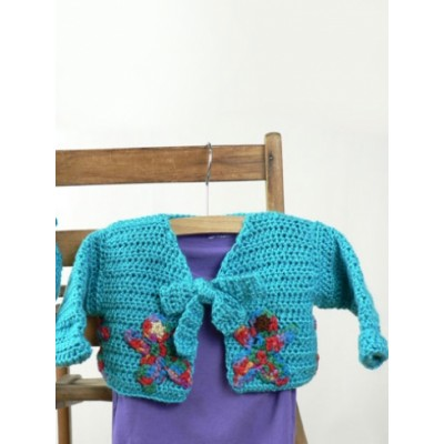 Around the World Baby Cardigan and Hat