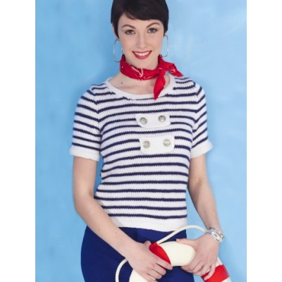 Women's Striped Sailor Top