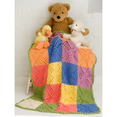 Bobble Blocks Baby Blanket