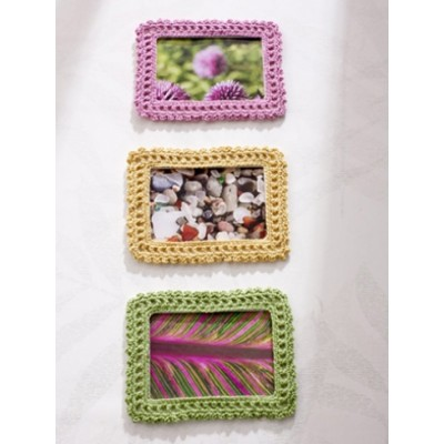 Lacy Crochet Picture Frame