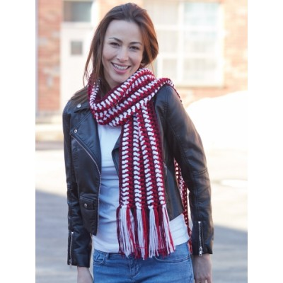 Sideways Striped Scarf