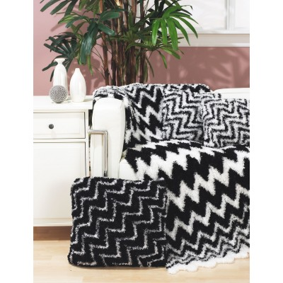 Zebra Throw and Pillows