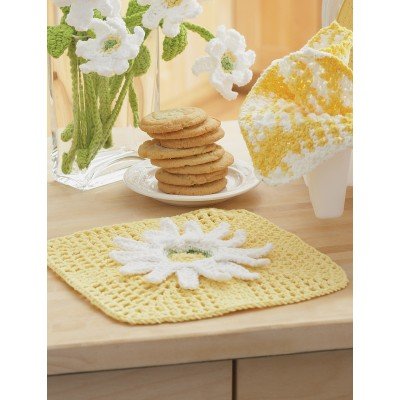 Daisy Fancy Dishcloth