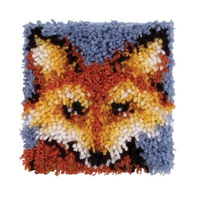 "Wonderart Latch Hook Kit 8"" x 8"" Mr Fox"