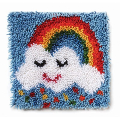 "Wonderart Latch Hook Kit 12"" x 12"" Rainbow Sprinkles"