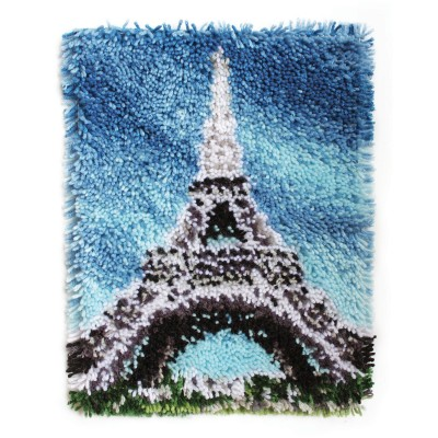 "Wonderart Latch Hook Kit 15"" x 20"" Eiffel Tower"