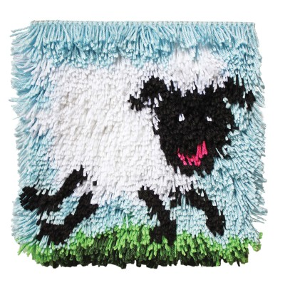 "Wonderart Shaggy Latch Hook Kit 12"" x 12"" Shaggy Sheep"