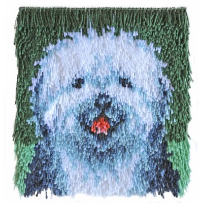 "Wonderart Shaggy Latch Hook Kit 12"" x 12"" Shaggy Dog"