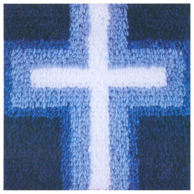 "Wonderart Latch Hook Kit 12""X12"" Cross of Light"