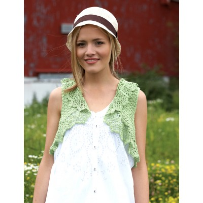 Frilly Cropped Vest