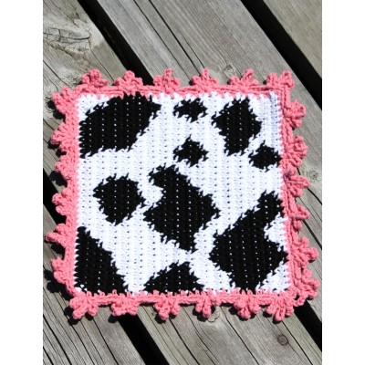 Cow Dishcloth