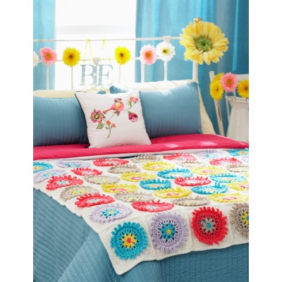 Colorful Cogs Afghan & Pillow