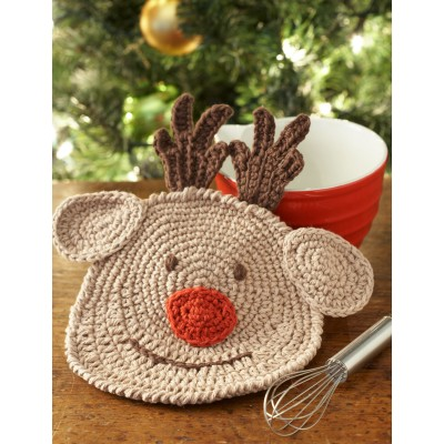 Reindeer Dishcloth