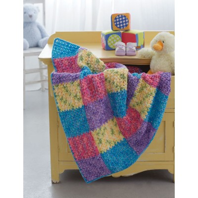 Color Block Panels Blanket