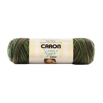 Simply Soft Camo Yarn 4 oz. - Clearance Shades*