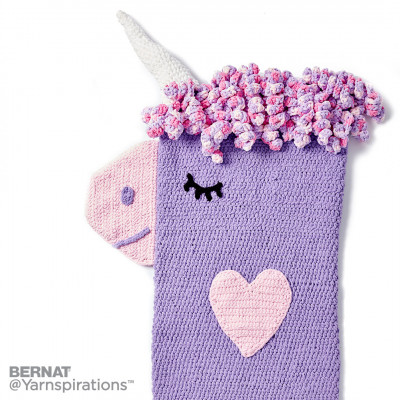 Crochet Unicorn Snuggle Sack