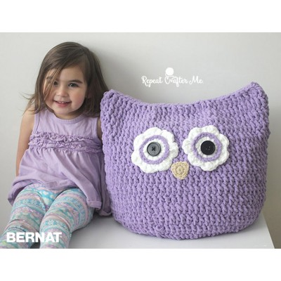 Free Crochet Owl Cushion Pillow Pattern : Crochet Patterns Yarnspirations