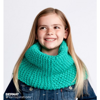 Dual Texture Knit Cowl
