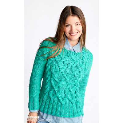 Twisted Vines Knit Pullover