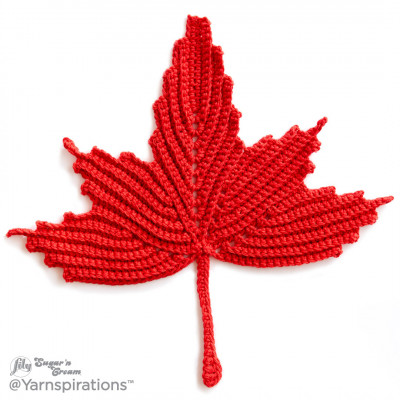 Maple Leaf Crochet Dishcloth