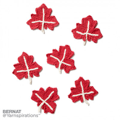 Maple Leaf Knit Applique