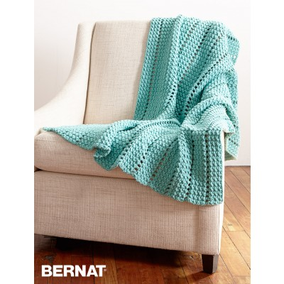 Crochet Patterns Using Bernat Home Bundle : Eyelets and Textures Blanket
