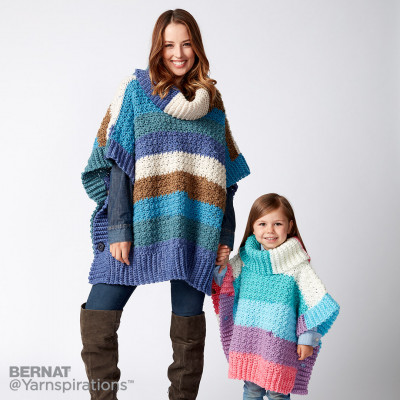 Mom and Me Crochet Ponchos